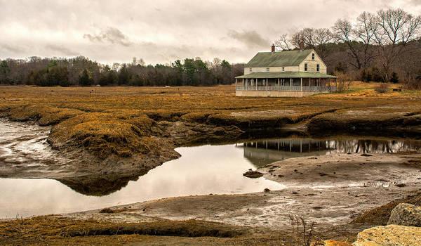 Photograph - The Burnham House In Essex Massachusetts by Nancy De Flon