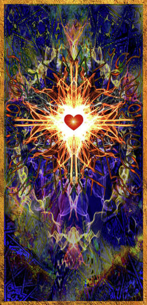 Realization Digital Art - The Burning Heart Of Mysticism by Christine Gentilhomme