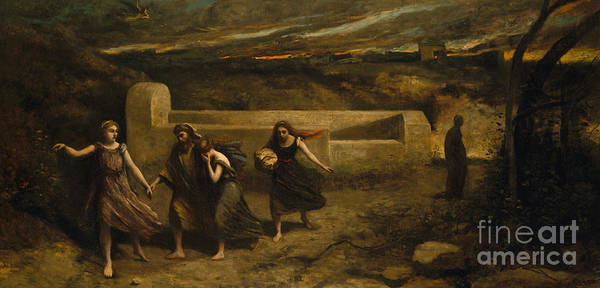 Wall Art - Painting - The Burning Of Sodom, 1857 by Jean Baptiste Camille Corot