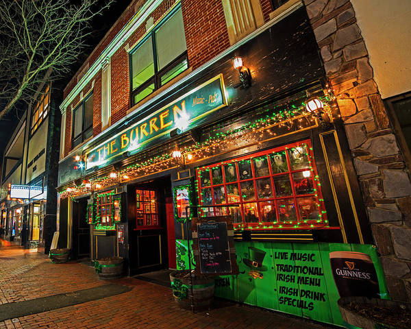 Photograph - The Burren Decked Out For Saint Patrick's Day Somerville Ma by Toby McGuire