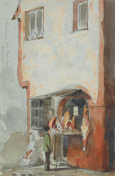 Painting - The Butcher's Shop  by James Abbott McNeill Whistler