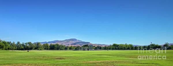 Softball Photograph - The Butte From Gem Island  Sports Complex by Robert Bales