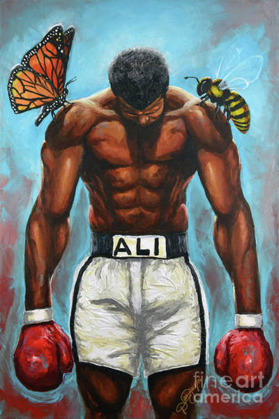 Boxing Painting - The Butterflies And The Bees by The Art of DionJa'Y