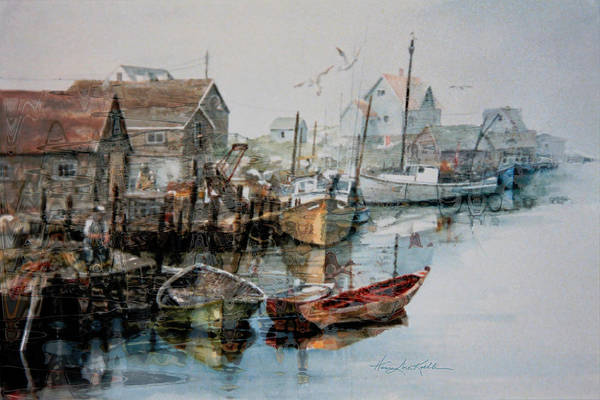 Fishing Boat Painting - The B'y That Catches The Fish by Hanne Lore Koehler