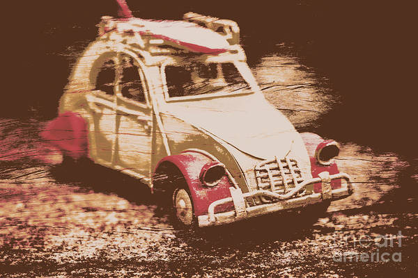 Autos Photograph - The Bygone Surfing Holiday by Jorgo Photography - Wall Art Gallery