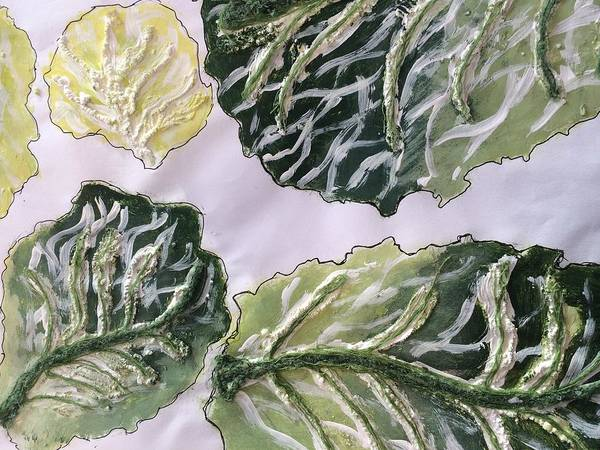 Cabbage White Painting - The Cabbage by Solano Muyiwa