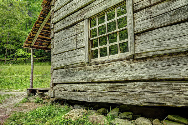 Photograph - The Cabin In The Smokies by Kay Brewer