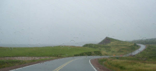 Cabot Trail Photograph - The Cabot Trail In The Rain by Andrew Wilson