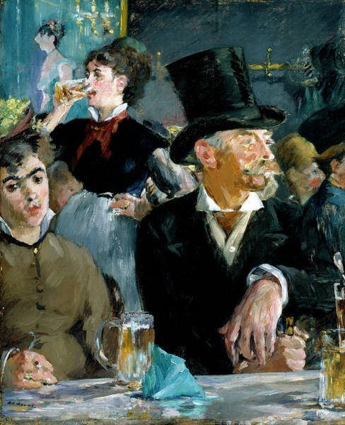 Bar Scene Painting - The Cafe Concert by Edouard Manet