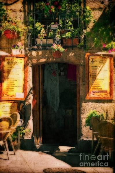 Wall Art - Photograph - The Cafe - Late Afternoon by Mary Machare