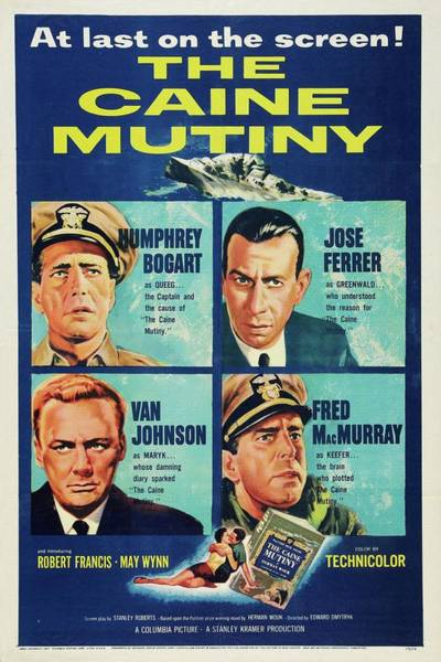 Mixed Media - The Caine Mutiny 1954 by Movie Poster Prints