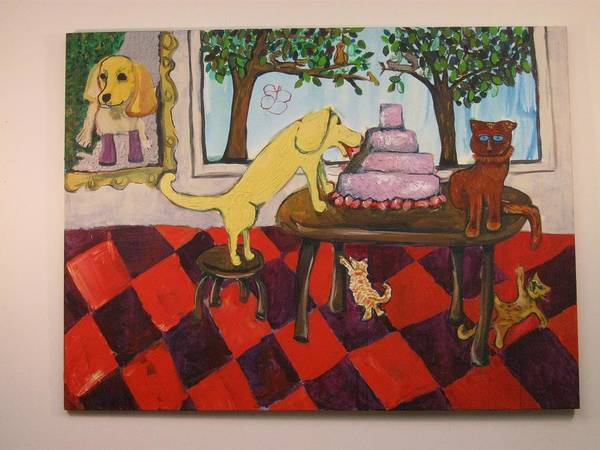 Painting - The Cake by AJ Brown