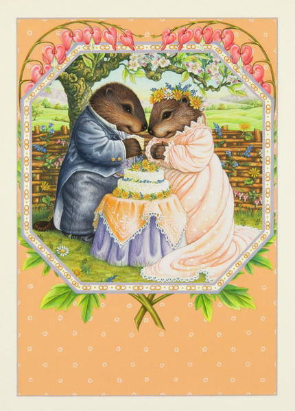Fairy Cakes Painting - The Cake Ceremony by Lynn Bywaters