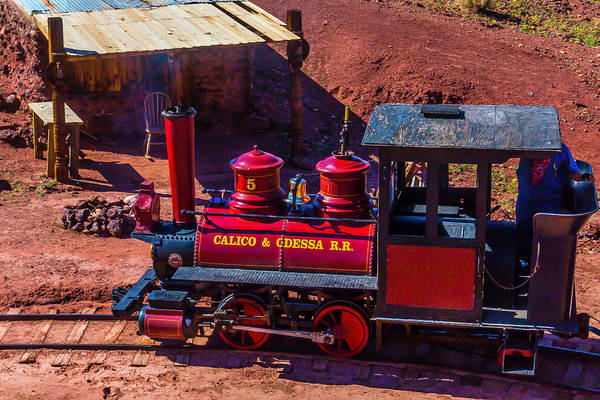 Wall Art - Photograph - The Calico Odessa Riding The Rails by Garry Gay