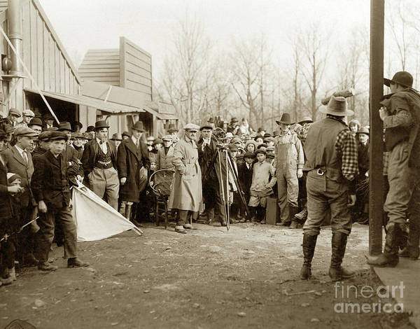 Photograph - The Call Of The North Movie Making 1914 by California Views Archives Mr Pat Hathaway Archives