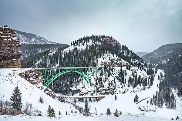 Red Bridge Wall Art - Photograph - The Call Of The Rockies by Evelina Kremsdorf