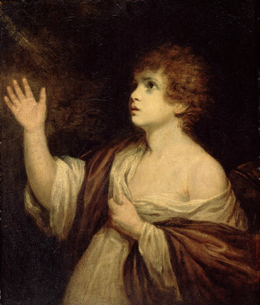Painting - The Calling Of Samuel by Joshua Reynolds