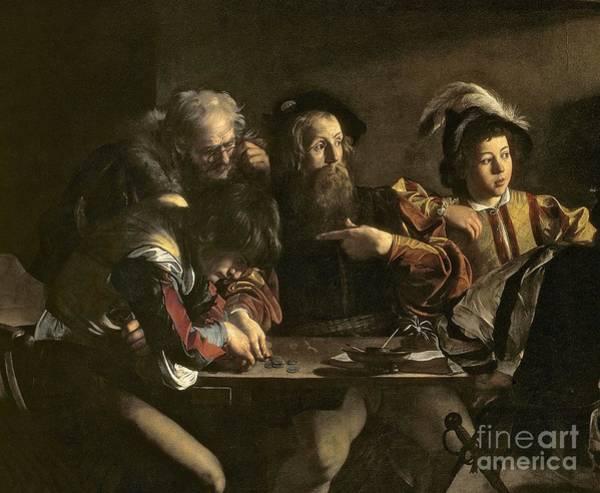 Michelangelo Painting - The Calling Of St. Matthew by Michelangelo Merisi da Caravaggio