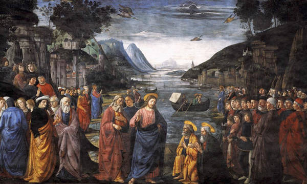 Redeemer Wall Art - Painting - The Calling Of The First Apostles by Domenico Ghirlandaio