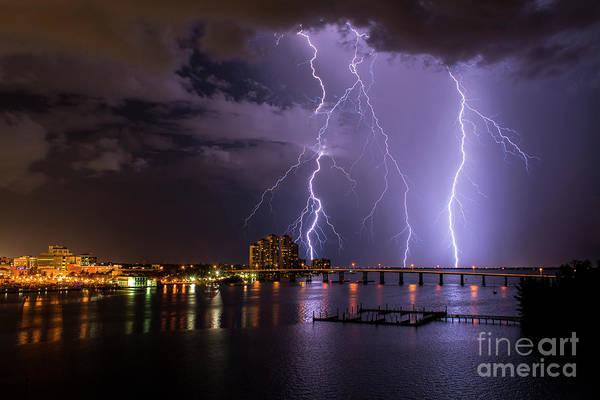 Lightning Bolt Photograph - The Caloosahatchee by Quinn Sedam
