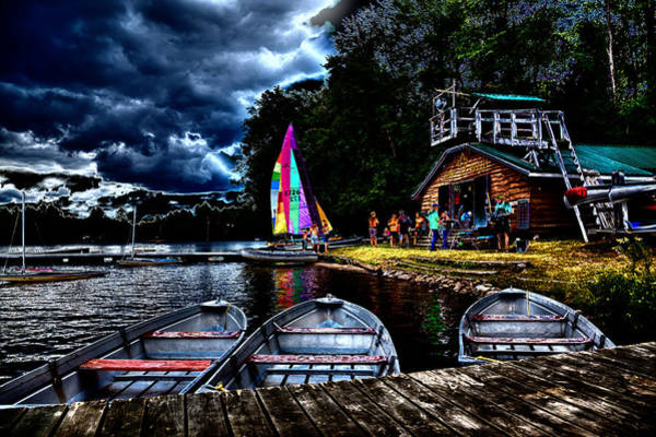 Photograph - The Camp Russell Boathouse by David Patterson