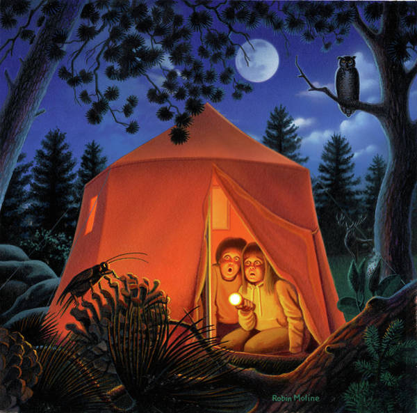Camper Wall Art - Painting - The Campout by Robin Moline