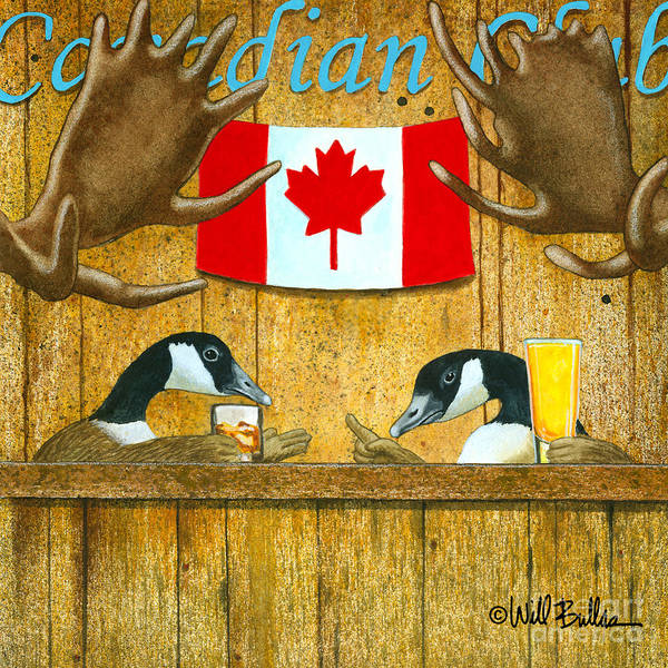 Canada Goose Wall Art - Painting - The Canadian Club... by Will Bullas