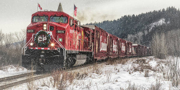 The Canadian Pacific Holiday Train Art Print