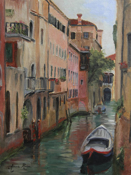 Wall Art - Painting - The Canal Less Travelled by Anna Rose Bain