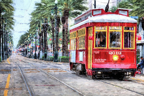 Wall Art - Photograph - The Canal Street Streetcar by JC Findley