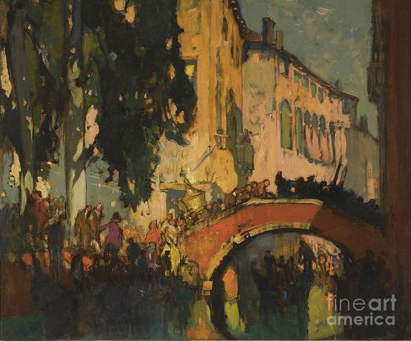 Painting - The Canal Venice by Celestial Images