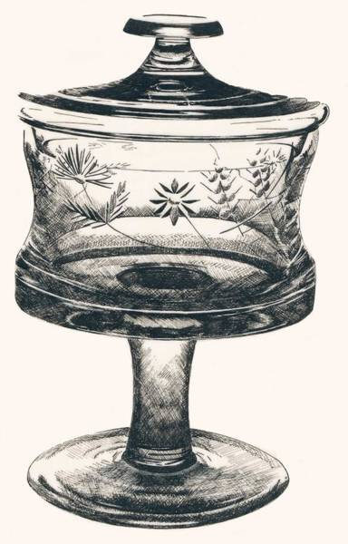 Drawing - The Candy Dish by Barbara Keith