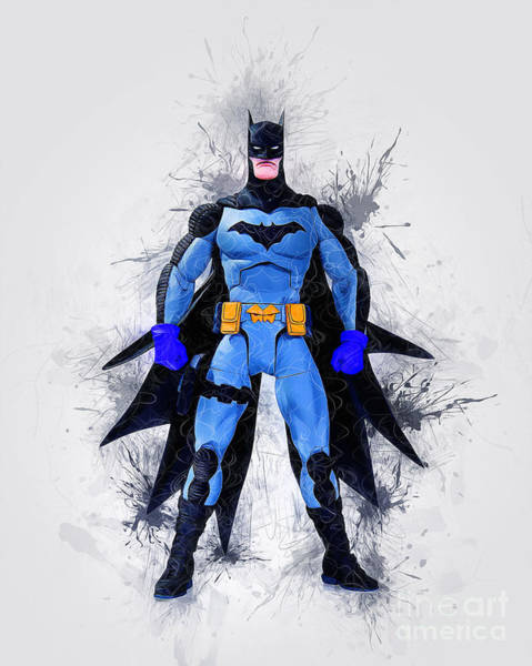 Digital Art - The Caped Crusader by Ian Mitchell