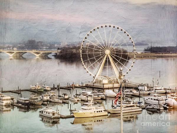 The Capital Wheel At National Harbor Art Print