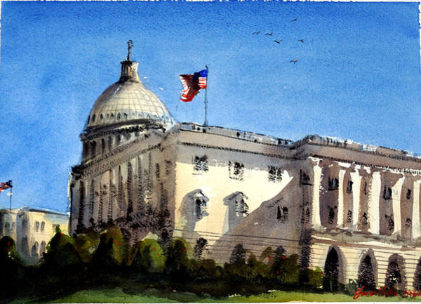 Capitol Painting - The Capitol by James Nyika
