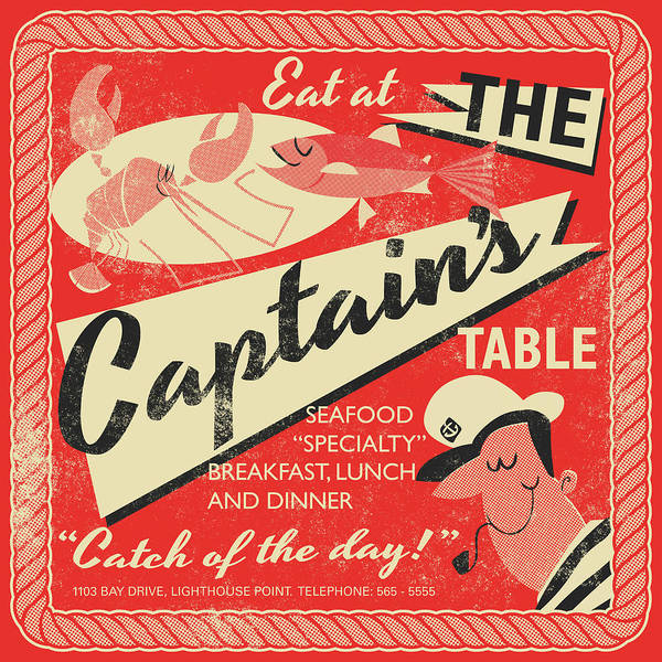 Father Drawing - The Captain's Table by Daviz Industries