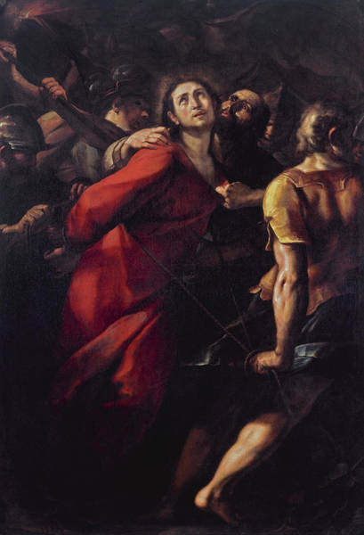 Cesare Painting - The Capture Of Christ by Giulio Cesare Procaccini