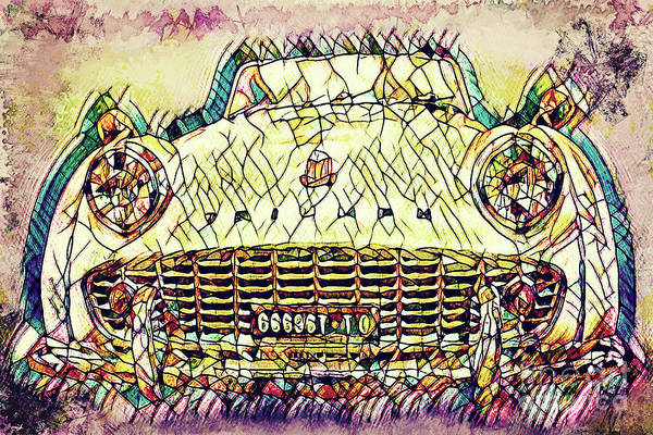Digital Art - The Car by Angela Doelling AD DESIGN Photo and PhotoArt