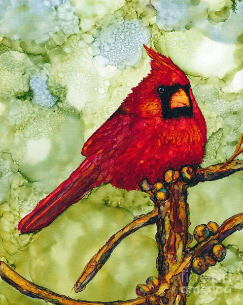 Painting - The Cardinal by Jan Killian