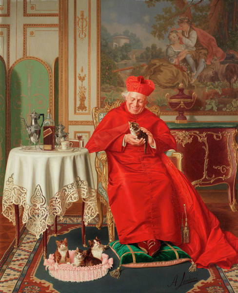 Wall Art - Painting - The Cardinal's Favourite by Andrea Landini