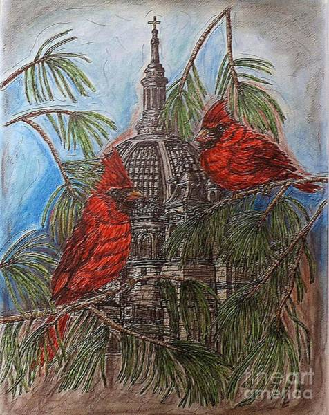 Painting - The Cardinals Visit St.pauls Cathedral by Kim Jones