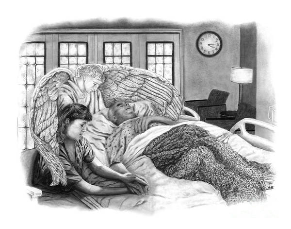 Angle Drawing - The Caregiver by Peter Piatt