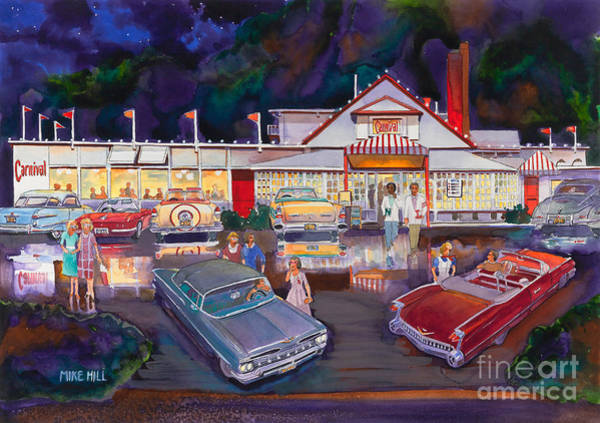 Carnival Painting - The Carnival Portland Oregon by Mike Hill
