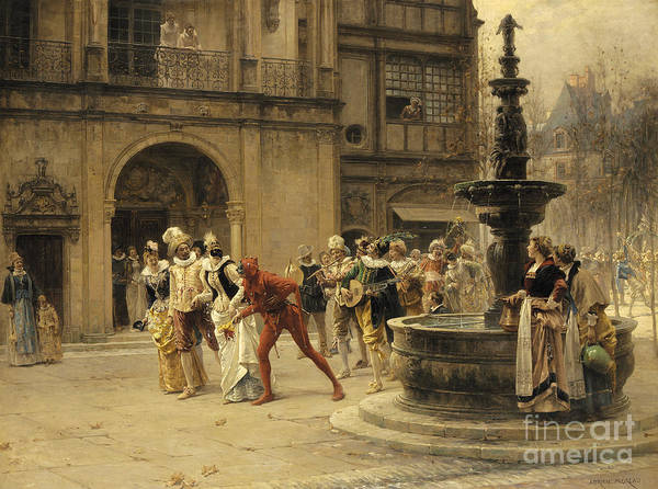 Wall Art - Painting - The Carnival Procession by Adrien Moreau