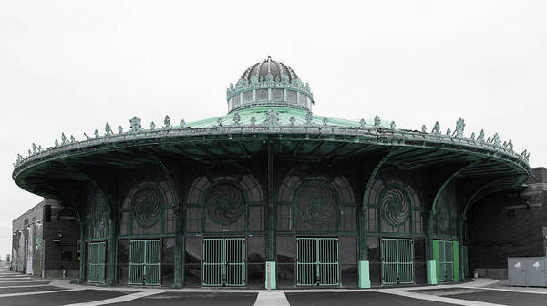 Wall Art - Photograph - The Carousel House Asbury Park Nj Green by Terry DeLuco