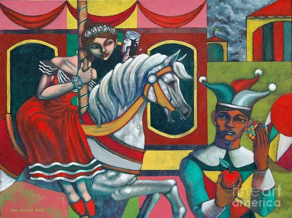 Wall Art - Painting - The Carousel by Paul Hilario