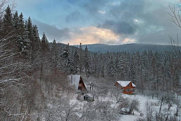 Photograph - The Carpathian Chalet. Sheshory, 2010. by Andriy Maykovskyi