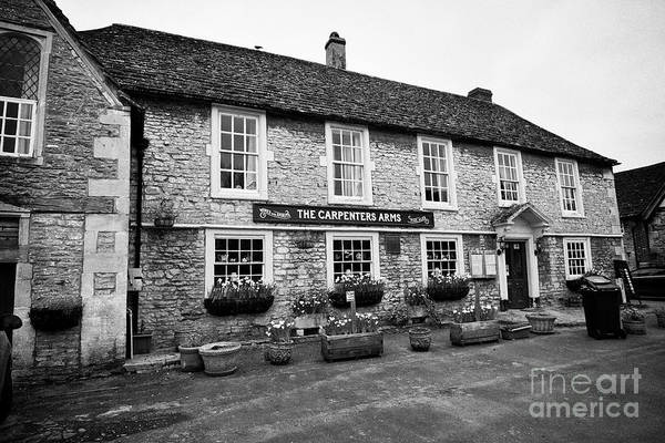 Wall Art - Photograph - The Carpenters Arms Pub Lacock Village Wiltshire England Uk by Joe Fox