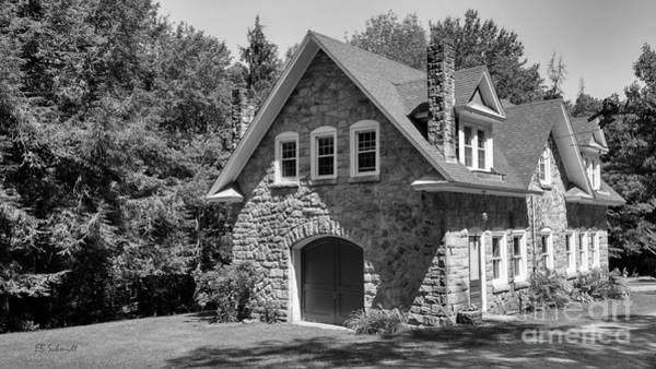 Photograph - The Carriage House In Black And White by E B Schmidt
