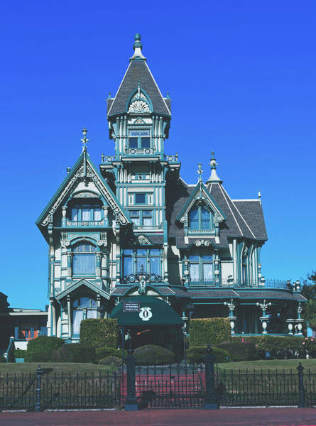 Queen Anne Style Photograph - The Carson Mansion - Eureka, California by Library Of Congress